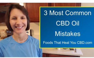 3 Most Common CBD Mistakes
